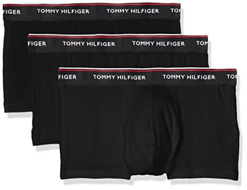 Tommy Hilfiger Herren Hüft-Shorts 3p Lr Trunk, 3er Pack, Schwarz (Black 990), Small