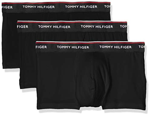 Tommy Hilfiger Herren Hüft-Shorts 3p Lr Trunk, 3er Pack, Schwarz (Black 990), Small