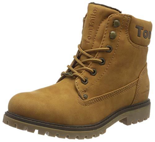 Tom Tailor Womens 9090114 Mid Calf Boot Bootie Boot, Brandy, 5 UK
