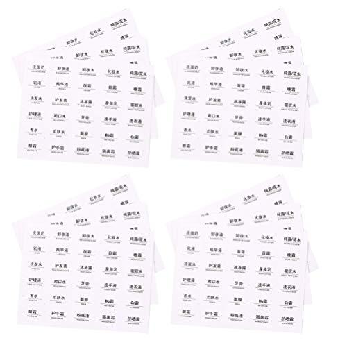 Hemoton 60St Cosmetische Fles Label Make-Up Fles Sticker Etherische Olie Fles Labels Tag Plakken Voor Diy Identificatie