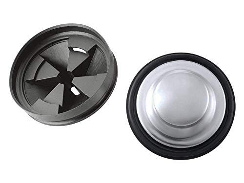 MEISO Waschbecken Garbage Stopper Entsorgung Ablauf mit Spritzschutz für InSinkErator Kohler Moen Abfall King sinkmaster Whirlaway viele andere alle Standard Entsorgung