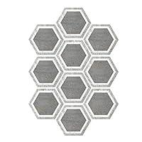 BESPORTBLE 防水DIYフロアステッカー、10個入りピール&キッチンバスルーム用タイルバックスプラッシュスティック-自己接着六角壁タイルステッカー