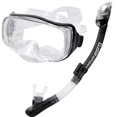 TUSA Sport Adult Imprex 3D Purge Mask and Dry Snorkel Combo, Smoke