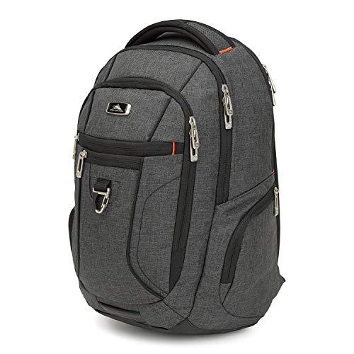 High Sierra Endeavour Essential Backpack, Mercury/ Heather/ Black, International Carry-On ( Model: 103961-6657 )