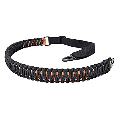 BOOSTEADY 2 Point Rifle Sling with HK Style Clips, Adjustable 550 Paracord Rated Nylon Gun Strap for Rifle