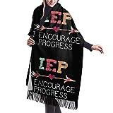 IEP I Encourage Progress Écharpe d'hiver en cachemire