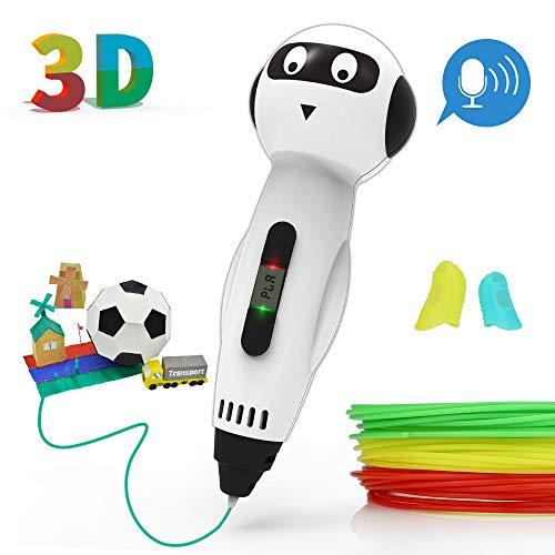 JAMIEWIN 3D Pen for Kids, 3D Printing Pens PLA Refills for 6-12 Years Girls Boys DIY Drawing