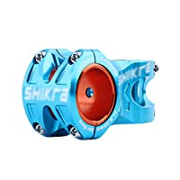 自転車茎、超軽量マウンテンバイクハンドルバーショートステム31.8 / 35×50mm MTB自転車の茎 YHLZ (Color : Blue)
