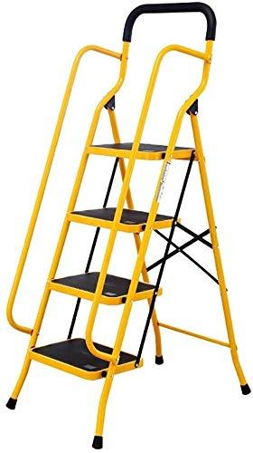 hclshops Aluminium Teleskopleiter Tragbare Teleskopleiter Multifunktions-Klappleiter 4 Stufenleiter Haushalt Geländer Leiter Treppe mit Fischgrätmuster Leiter Eindickung Technik Leiter
