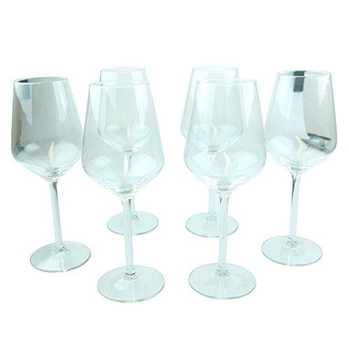 Bid Buy Direct® Lot de 6 verres à vin – 37 cl   Idéal pour toutes les fêtes