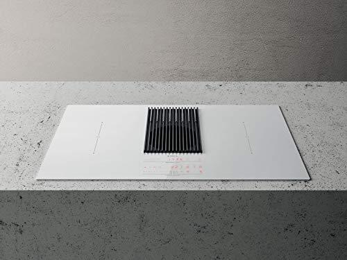 Placa de inducción con campana N° 4 fuegos, ancho 83 cm color negro, NIKOLATESLA LIBRA BL/F/83