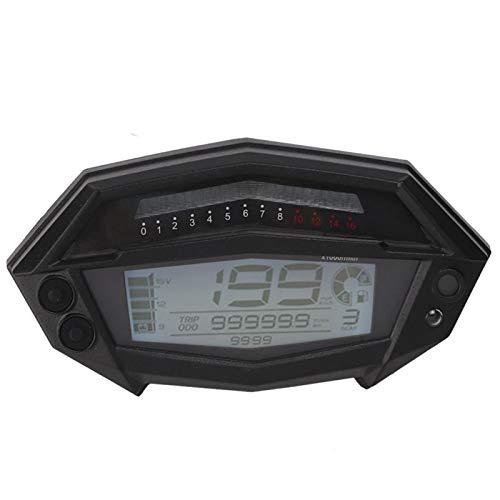 Qqmora Velocímetro 1-5 Gear LCD Medidor de Motocicleta para Motocicleta de 1/2/4 Cilindros