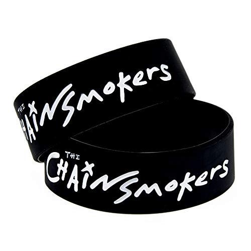 HAIHF Silikonarmbänder Gummiarmbänder, The Chain Smokers Silikonarmband Star Wrist Strap, 6 Stück