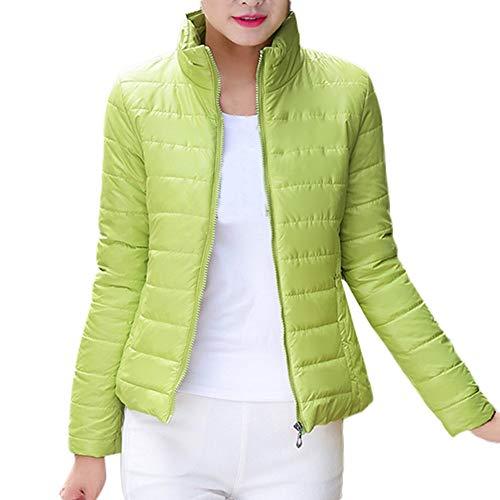 Veste Doudoune Femme Fine Chaude Blouson Coton POPLY sous Doudoune Courte Femme Pas Cher Zip Down Jacket Warm Jacket Manteaux Hiver Outwear Down Coat for Women