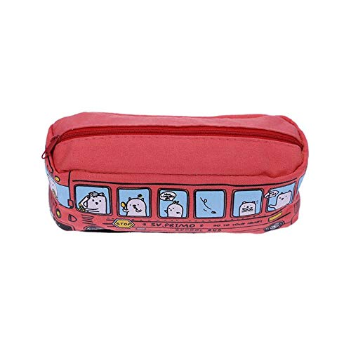 Bus Pencil Case(Orange) 19 * 7 * 7cm Rood