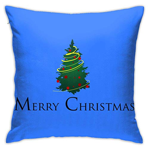 Throw Pillow Cover Cushion Cover Pillow Cases Decorative Linen Merry Christmas Green Tree for Home Bed Decor Pillowcase,45x45CM