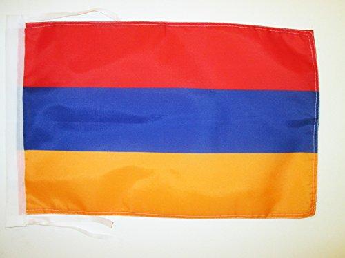 AZ FLAG Flagge ARMENIEN 45x30cm mit Kordel - ARMENISCHE Fahne 30 x 45 cm - flaggen Top Qualität
