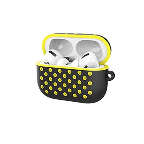 Funda Airpods Pro Protección Cover Funda Carcasa para Apple AirPods Pro AirPods 3 (LED Visible) (Amarillo)