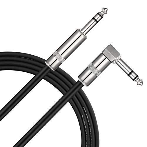 Donner TRS Stereo Audio-Balance-Linie Gitarrenkabel von Premium-Qualität, Audio Kabel für die E-Gitarre, Elektro-Akustikgitarre, Bassgitarre & Keyboard, Gerade bis Rechtwinklige 10 Fuß(3m)