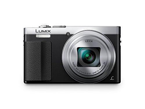 Panasonic DMC-TZ71EG-S Lumix Kompaktkamera (12,1 Megapixel, 30-Fach Opt. Zoom, 7,6 cm (3 Zoll) LCD-Display, Full HD, WiFi, USB 2.0) Silber & Amazon Basics Kameratasche für Kompaktkameras, groß