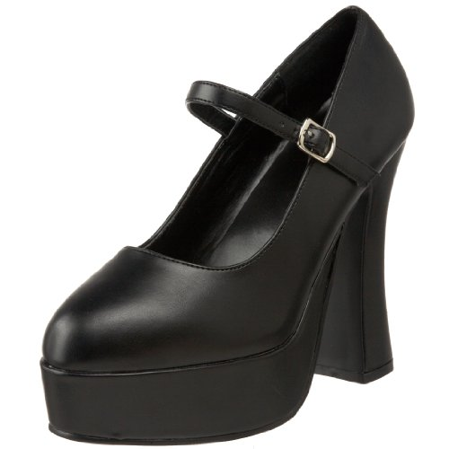 Demonia DOLLY-50, Damen Plateau Pumps, Schwarz (Schwarz (Blk Vegan Leather)), 44 EU (11 Damen UK)
