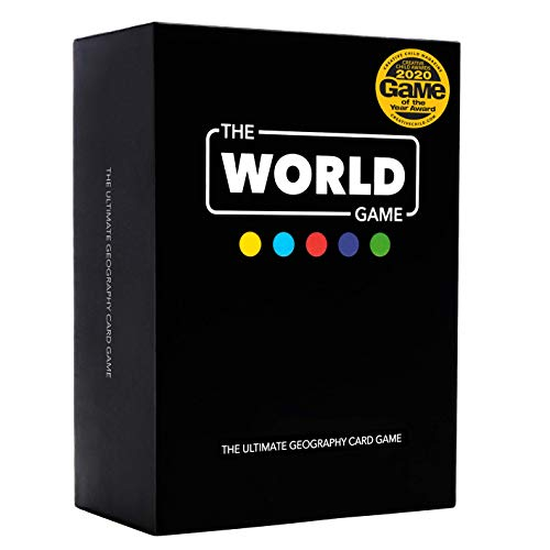 The World Game - Geography Card Game - Educational Board Game for Kids, Family & Adults - Cool Learning Gift Idea for Teenage Boys & Girls