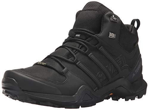 adidas outdoor Terrex Swift R2 Mid GTX Hiking Shoe - Men's Black/Black/Black, 7.5