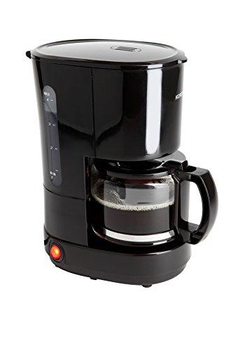 Korona 12013 roestvrij stalen koffiezetapparaat in zwart - filter koffiezetapparaat voor 4 kopjes koffie met een pot van glas