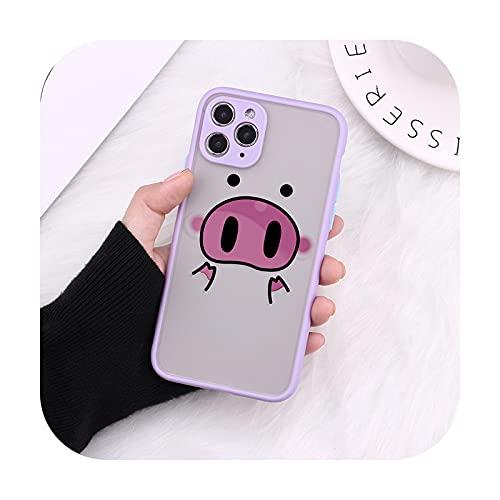 Cartoon Funny Pig Cámara Protección Bumper Teléfono Carcasas para iPhone 11 Pro Max XR XS Max X 8 7 6S Plus Mate a prueba de golpes contraportada - 8-Para iPhone12Pro