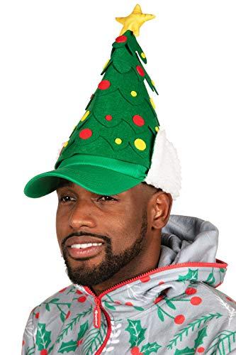 Tipsy Elves Christmas Tree Hat - Funny Green Christmas Hat for Men & Women