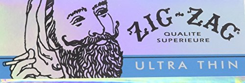 Zig Zag Ultra Thin Cigarette Rolling Papers, 1 4 Size (24 Booklets Retailers Box)