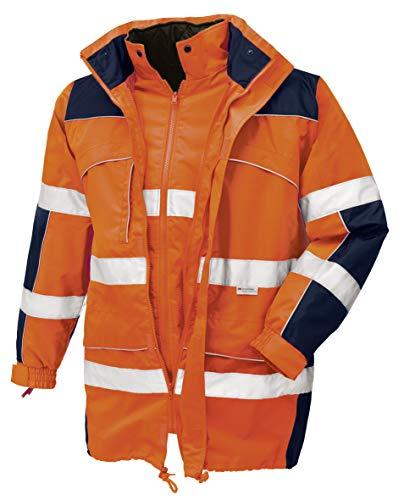 teXXor Warnschutz-Parka Toronto wasserdichte, winddichte Arbeitsjacke, XL, orange, 4109
