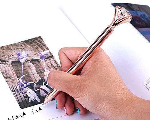 DS.DISTINCTIVE STYLE Diamond Ballpoint Pen Set of 5 Bling Metal Ballpoint Pen with 5pcs Refills Black Ink Crystal Shape Pens for School Office Photo #6