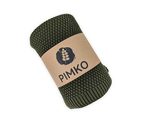 PIMKO Babydecke Strickdecke Kuscheldecke Schmusedecke weich und kuschelig ideal für Zuhause oder für Unterwegs für Allergiker geeignet aus natürlicher 100% Baumwolle Größe 80 x 100 cm (Khaki)
