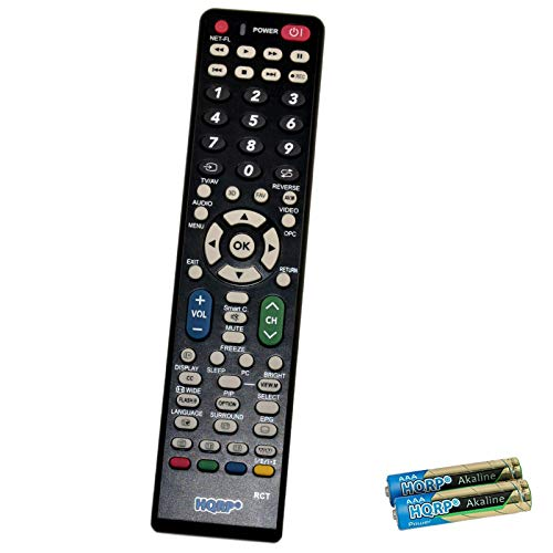 HQRP Remote Control Works with Sharp LC-52SB57U LC-60E78UN LC-60E79U LC-60LE6300U LC-60LE630U LC-52SB55U LC-52SB57UN LC-52SE94U LC-52XS1U-S LCD LED HD TV Smart 1080p 3D Ultra 4K AQUOS