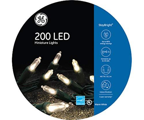 GE 200 LED Miniature Light Reel, Warm White