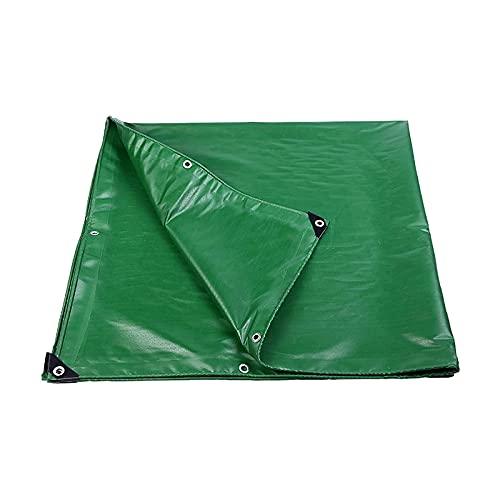 ZZYE Lona Cubierta de lona verde impermeable, lonas adicionales de servicio pesado a prueba de agua, tapa de lona, esquinas reforzadas con ojales, resistencia a la lluvia a prueba de viento con polv
