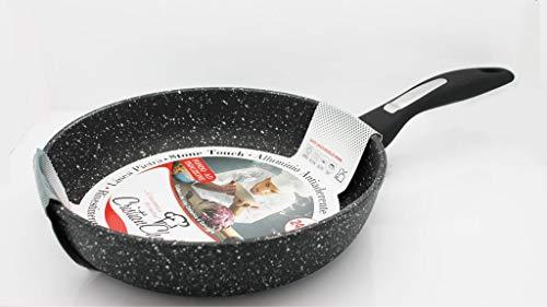 DIMA srl Cristian Chef Padella 32cm in Alluminio Antiaderente con Rivestimento AntiGraffio per induzione Superior, Cottura a Gas, Elettrico e Ceramica