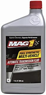 Mag 1 62555 Full Synthetic Multi-Vehicle Automatic Transmission Fluid - 1 Quart, (Pack of 6)