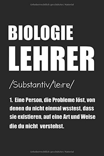 Biologie Lehrer Definition: Biologielehrer & Physik Notizbuch 6'x9' Liniert Geschenk für Biologielehrerin & Schule