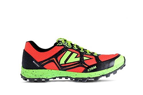 VJ XTRM OCR Shoes - Trail Running Shoes Women and Mens with a Full Length Rock Plate - Made for Rocky and Technical Mountain Trails and Obstacle Course Races - Mens 7.5 | Womens 9 Red