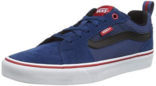 Vans Herren Filmore Suede/Canvas Sneaker, Mehrfarbig ((Varsity) Sailor Blue/Tango Red Vfg), 40.5 EU