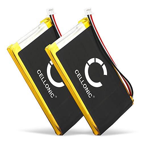 CELLONIC® 2X Batería de Repuesto AHL03714000,VF8 Compatible con Tomtom GO 530, GO 630, GO 720, GO 730, GO 930, Traffic, SatNav, 1300mAh Accu GPS Pila sustitución Battery