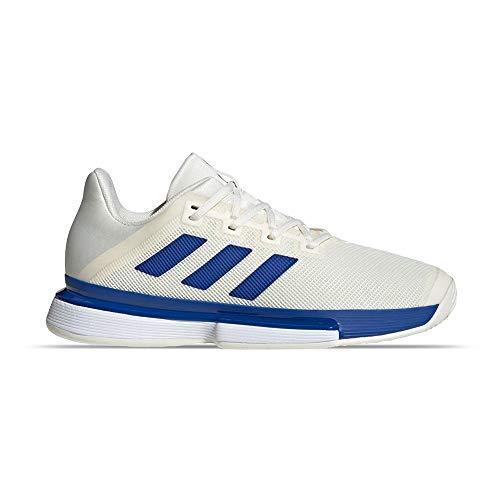 adidas Solematch Bounce M, Chaussures de Tennis Homme, Blanc Fond/Équipe Bleu Royal/FTWR Blanc, 43 1/3 EU
