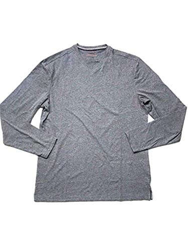 Weatherproof Vintage Mens Long Sleeve V-Neck Shirt (M, Gray Heather)