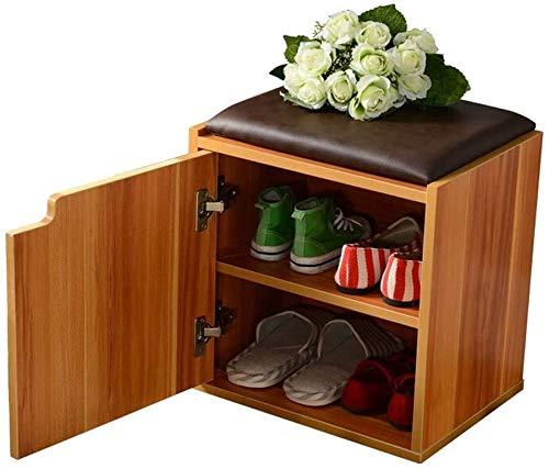 ZouYongKang Banco de perros de zapatos de 2 niveles de trabajo pesado para la entrada, estante de zapatos de rack con estante de zapatos de dormitorio de cojín extraíble, banco duradero de pasillo o d