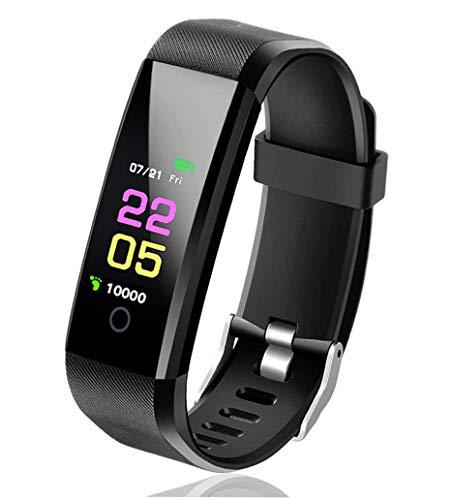 JFHD - Reloj inteligente con monitor de actividad, unisex, resistente al agua IP67, impermeable, podómetro, caminar o carreras