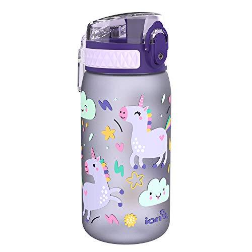 ion8 Auslaufsichere Kinder Trinkflasche, BPA-frei, Einhörner