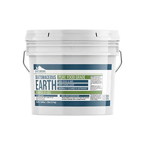 Diatomaceous Earth (1 Gallon) by Earthborn Elements, Resealable Bucket, Highest Quality, FCC Food Grade, 100% Pure Freshwater Amorphous Silica