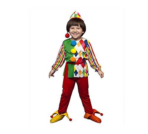 Disfraz de Arlequín para niños de 5 a 6 años